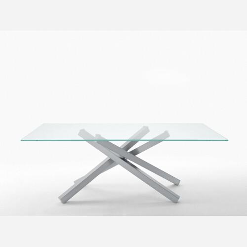 tavolo cristallo trasformabile infinity1