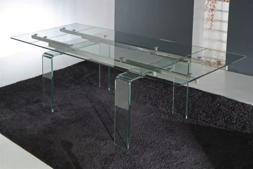 tavolo da cucina allungabile in vetro glass 1