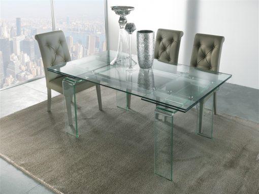 tavolo da cucina allungabile in vetro glass