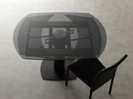 tavolo da cucina allungabile in vetro prometeus nero