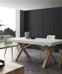 tavolo da cucina in legno allungabile bianco