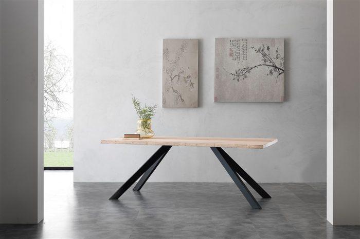 tavolo fisso in legno bio-metal 1