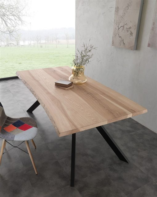 tavolo fisso in legno bio-metal
