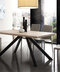 tavolo fisso in legno bio-metal-mini