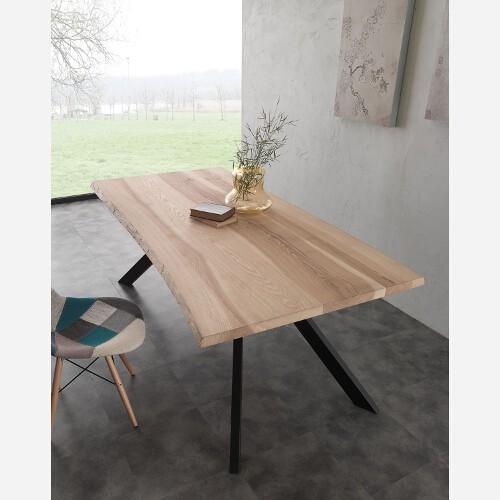 tavolo fisso metallo e legno 704