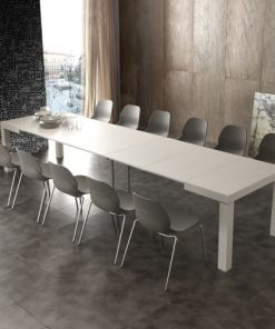 tavolo allungabile in legno quadrato