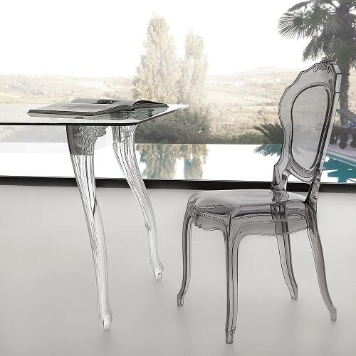 tavolo in cristallo e policarbonato 1