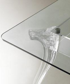 tavolo in cristallo e policarbonato 2