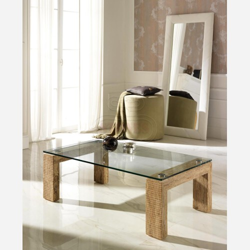 tavolino rettangolare cristallo e pietra 2