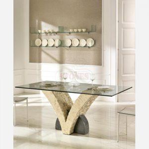 Tavolo da cucina fisso in vetro – ST548