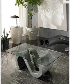 tavolino caffè cristallo pietra 3