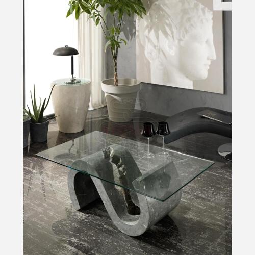 Tavolini Da Salotto Cristallo E Pietra.Tavolino Da Salotto In Vetro St551 Emporio3 Arredamenti