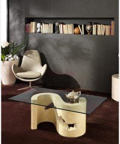 tavolino caffè cristallo pietra 4