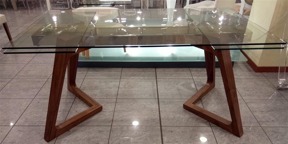 Tavolo allungabile in cristallo grigna sg1550 ebay - Prezzi tavoli di lazzaro ...