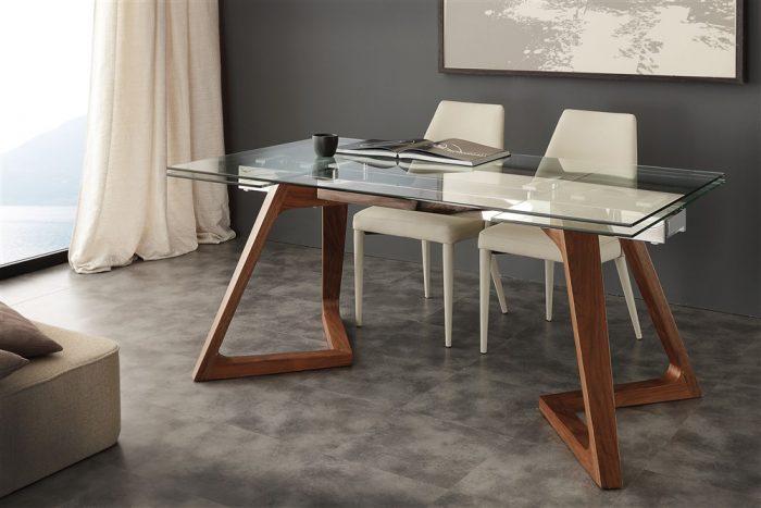 tavolo da cucina allungabile in vetro gaudi 1