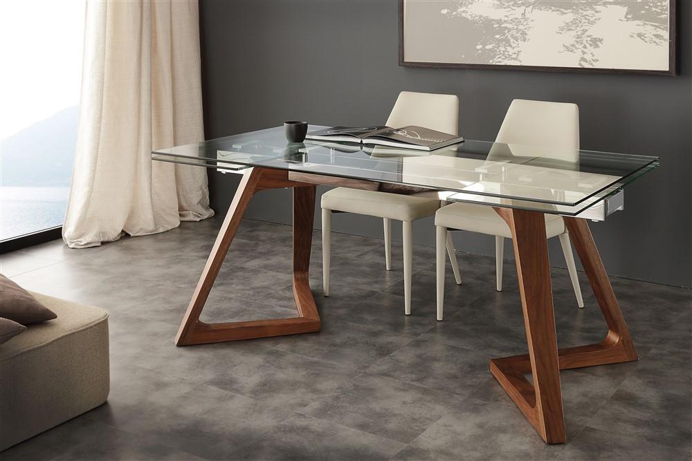Tavolo allungabile in cristallo Grigna - SG1550 - Emporio3 arredamenti