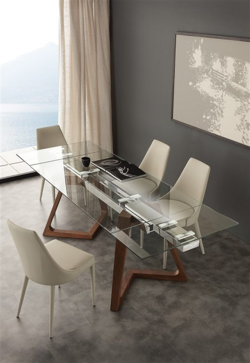 tavolo da cucina allungabile in vetro gaudi