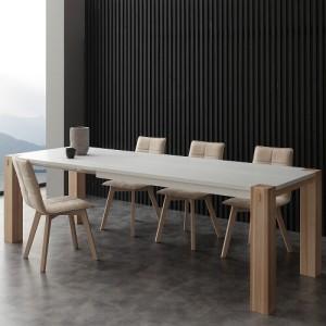 Tavolo allungabile in legno massello Factory bicolor – SG1559