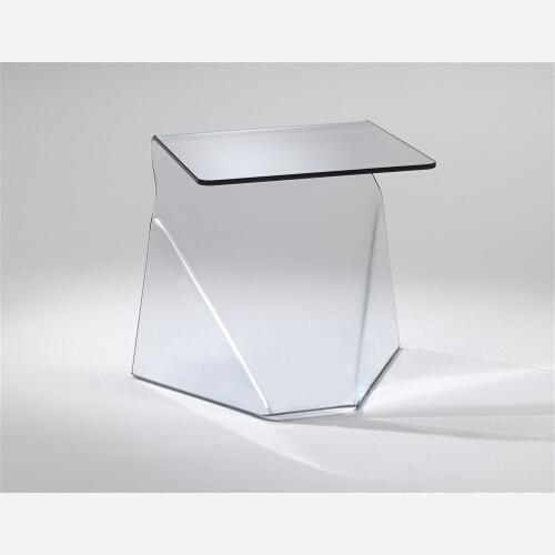 Mobiletto letto comodino in vetro trasparente o nero COBRA - Emporio3