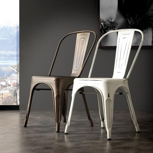 set 4 sedie in metallo