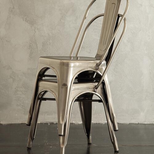set 4 sedie in metallo 4
