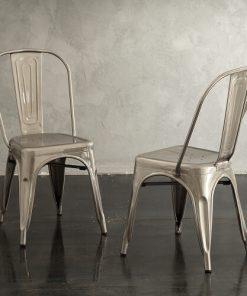 set 4 sedie in metallo 5