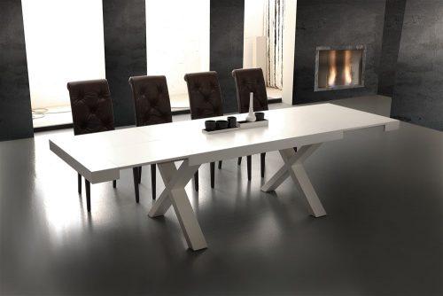 tavolo da cucina allungabile in legno bianco galileo 1
