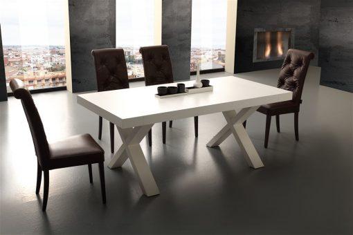 tavolo da cucina allungabile in legno bianco galileo