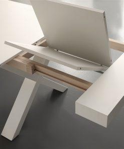 tavolo da cucina allungabile in legno bianco galileo dettaglio