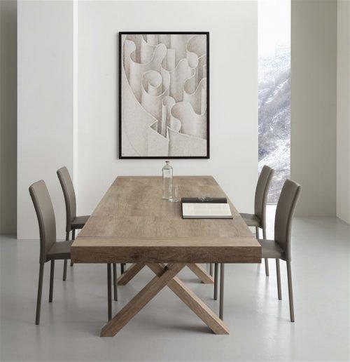 tavolo da cucina allungabile in legno rovere galileo