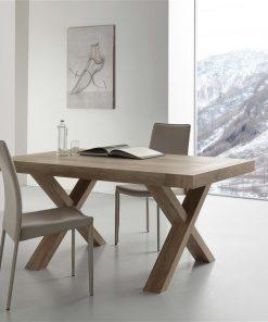tavolo da cucina allungabile in legno rovere galileo dettaglio