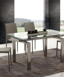 tavolo da cucina allungabile in vetro manhattan
