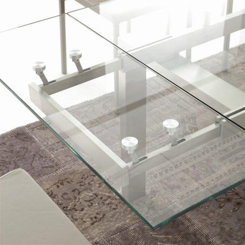 tavolo da cucina allungabile in vetro manhattan dettaglio