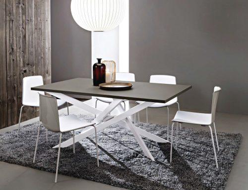 tavolo renzo gambe bianche piano fenix grigio londra