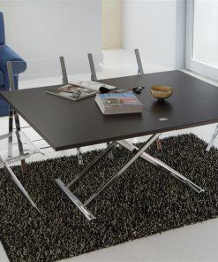 tavolino trasformabile wengè aperto