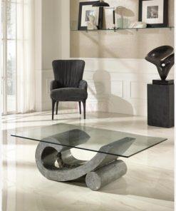 tavolino in fossilstone grigio