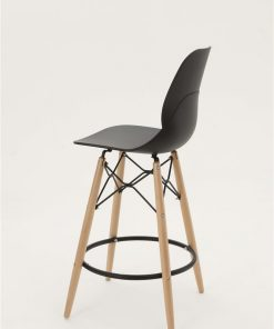 sgabello shell stool nero