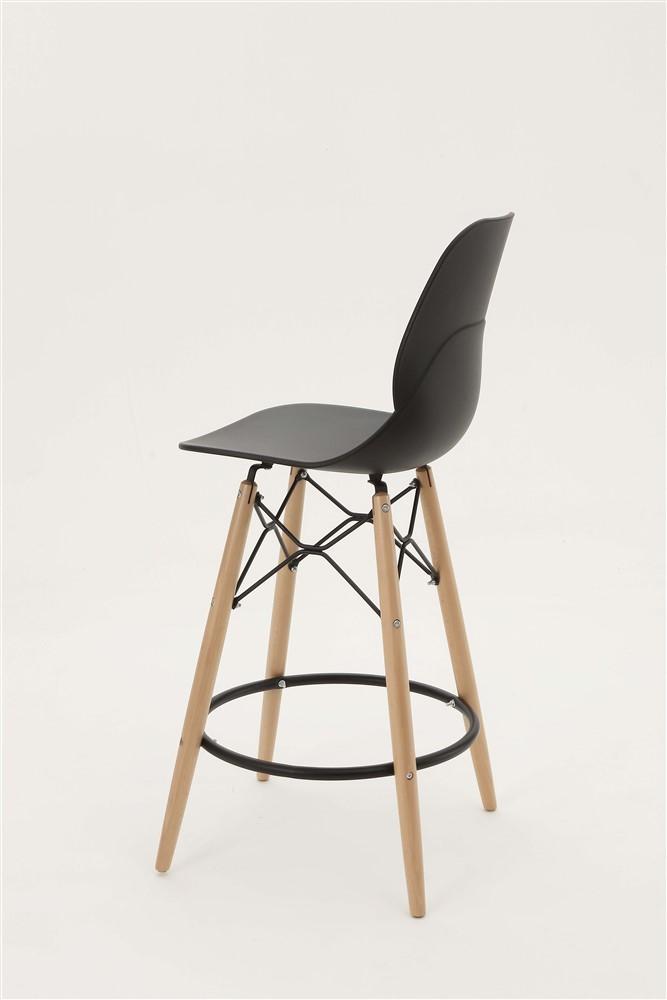 sgabello shell stool nero