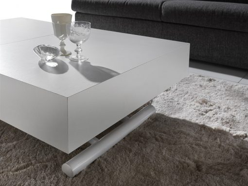 tavolino trasformabile block bianco poro aperto