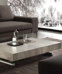 tavolino trasformabile block cemento