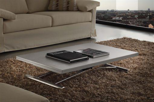 tavolino trasformabile saliscendi cemento