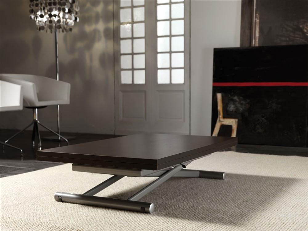 tavolino trasformabile saliscendi wengè 1