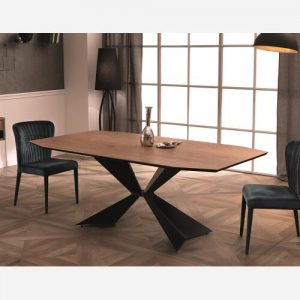 tavolo fisso in legno rovere