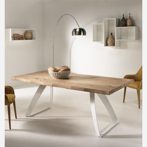 Tavolo fisso in legno st573 emporio3 arredamenti for Tavoli per cucina in legno