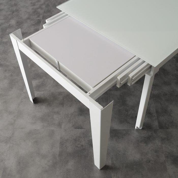 tavolo allungabile in vetro la seggiola long way bianco allunghe