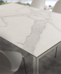 tavolo da cucina allungabile in ceramica bianco Ceramique dettagli