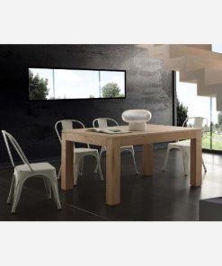 tavolo da cucina allungabile in massello contermporaneo 1