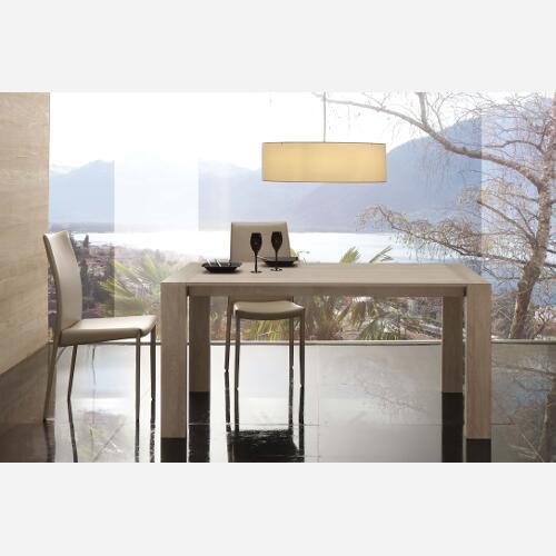 Tavolo da cucina allungabile in legno moderno sg1606 ebay for Tavolo cucina moderno allungabile