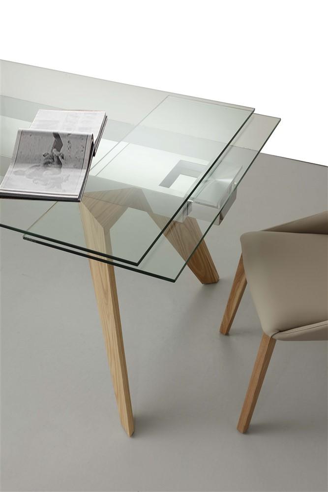 Tavolo allungabile adamello gambe - Tavolo da cucina in vetro ...