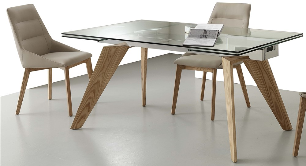Tavolo da cucina allungabile in vetro Adamello - SG1600 - Emporio3 ...
